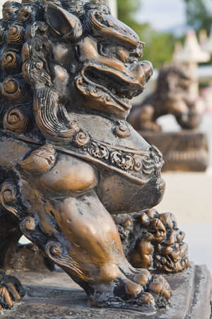 Chinese lion statues  photo