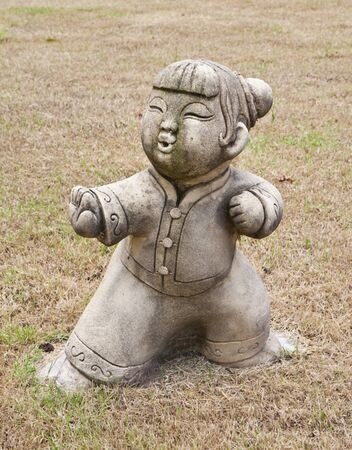 tai: Statue of Chinese women, are practicing Tai Chi Chuan