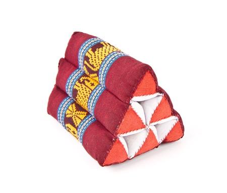Tradition native Thai style pillow , on white background Stock Photo - 13443409