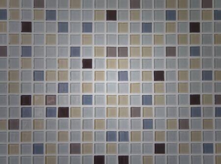 The image of a blue ceramic tile close up  photo