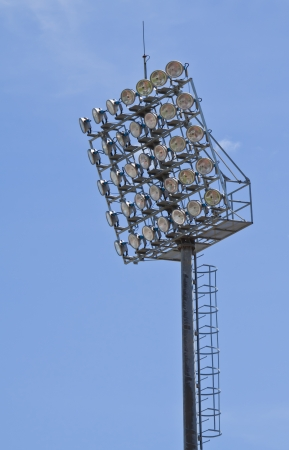 baseball stadium: Spot-light tower at chonburi stadium in thailand