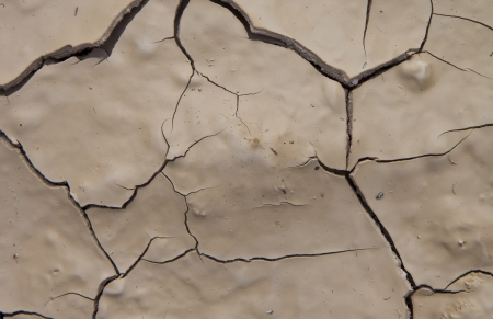 Detail of dried soil with cracked surface  Stock Photo