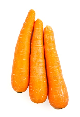 Fresh carrot isolated on a white background  photo