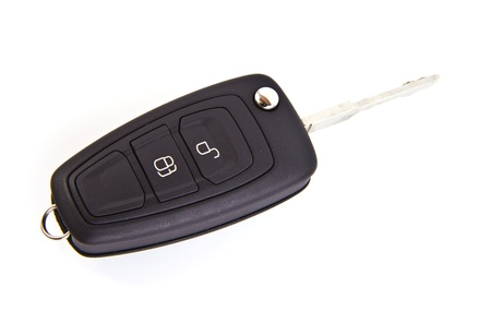 Car key isolated on a white background. photo