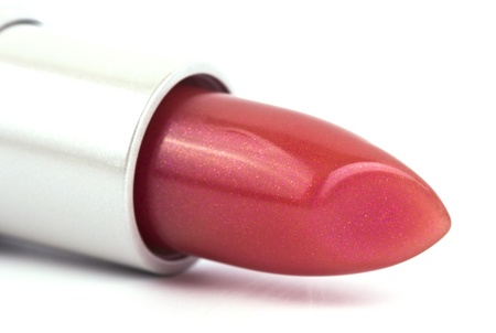 Red lipstick isolated on a white background  photo