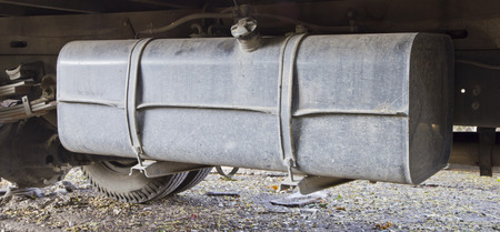 Shot of Fuel tank trucks  photo