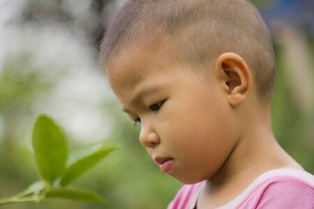 thai boy: Thai boy in garden