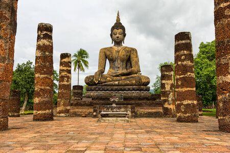 sukhothai: Ancient buddha statue. Sukhothai Historical Park, Sukhothai Province, Thailand Stock Photo