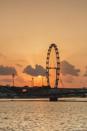 Singapore skyline at sunrise. Editorial