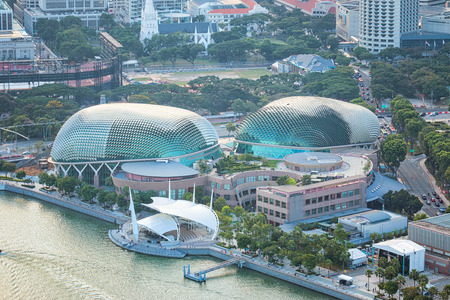 SINGAPORE - JUN 26, 2015: Esplanade - Theatres on the Bay is a performing arts center located in Marina Bay. Editorial
