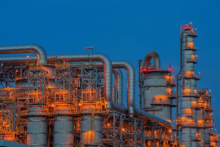 power plant on blue sky.