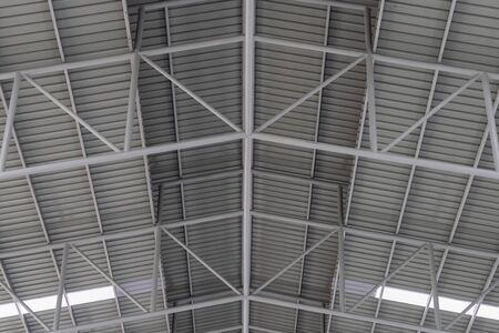 Structure of metal sheet roof, Roof structure of factory.