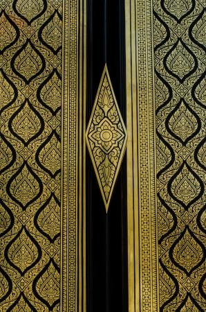 Texture art thai style on the door,Thailand Stock Photo