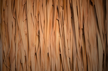 A thatched roof pattern. Great as a background. Stock Photo