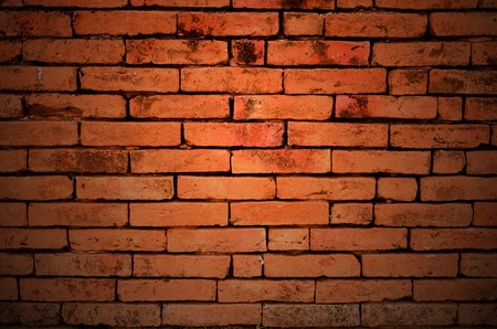 Background: Red brick wall