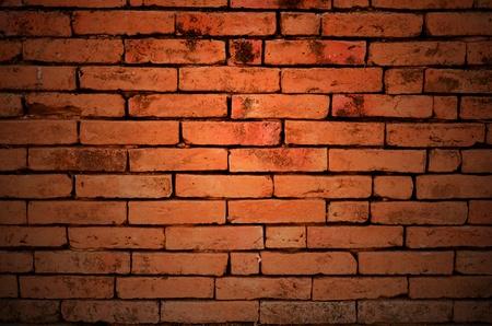 Background: Parede de tijolo vermelho