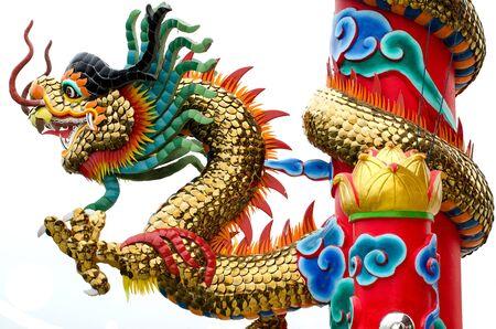 golden Chinese dragon