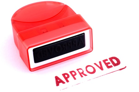 approved stamp Stock Photo - 17888826