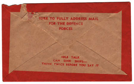 telegram: Vintage Urgent Telegram Envelope Back