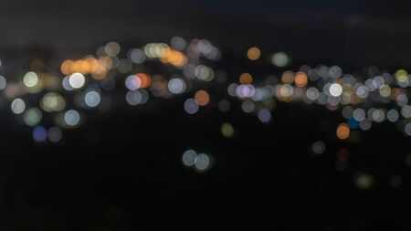 Beautiful defocused or blurry night light view of the kalimpong town with details. The town is in West Bengal. Reklamní fotografie