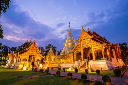 Tempel in Chiangmai, Thailand Stockfoto