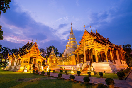 Temple in Chiangmai , Thailand Banque d'images