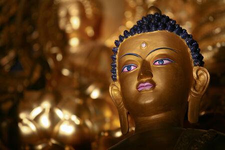 Buddha figure in a Buddhism temple in Ladakh, India.