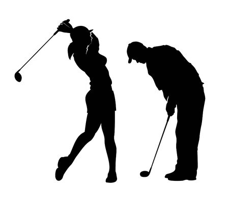 nervousness: Golf_Players Illustration