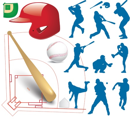 baseball game: Vector art in Adobe illustrator