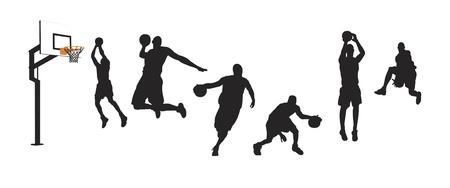 dunk: Basketball players
