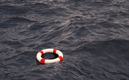 coastguard: Lifebelt in the Ocean