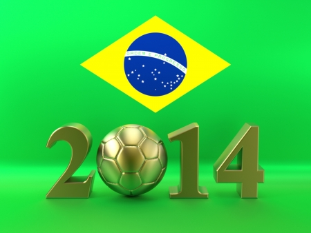 Soccer 2014 Brazil Flag photo