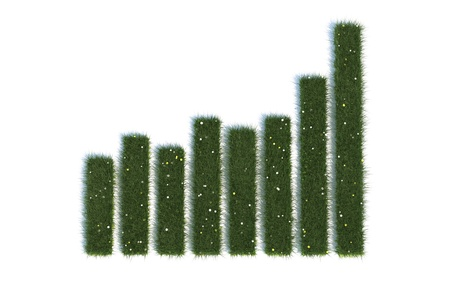 Bar Diagram Series Symbols out of realistic Grass Stock Photo - 18701133