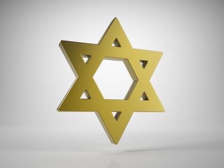 sainthood: Golden Star of David Stock Photo