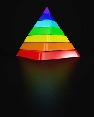 spectral: Twisted Pyramid out of Spectral Colours Stock Photo