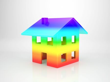 spectral: House out of Spectral Colours Stock Photo