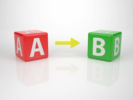 From A to B, Achieve Your Goal - Series Letterdices photo