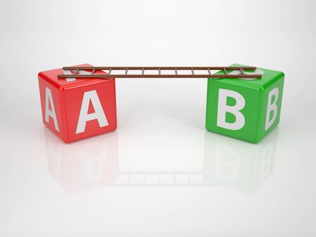 Letters A and B with Ladder - Series Letterdices photo