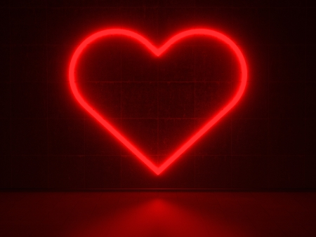 Red Heart - Series Neon Signs photo