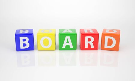comité d entreprise: Le Conseil Word sur Dices lettre multicolores