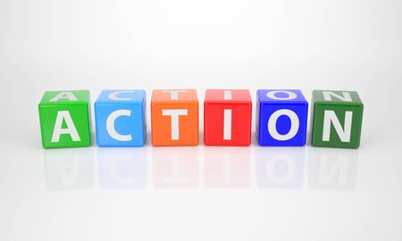 comité d entreprise: La Parole action sur Dices lettres multicolores