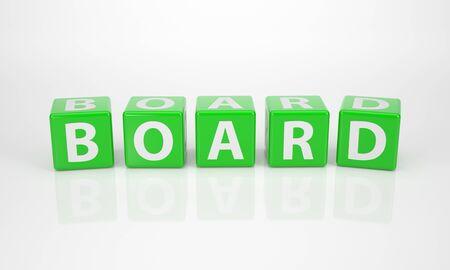comité d entreprise: La Parole Board sur Dices lettre verte