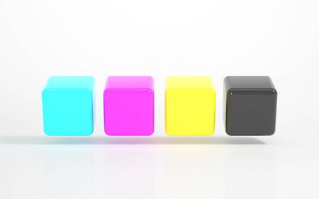 advertiser: CMYK - Multicolored Cubes Stock Photo