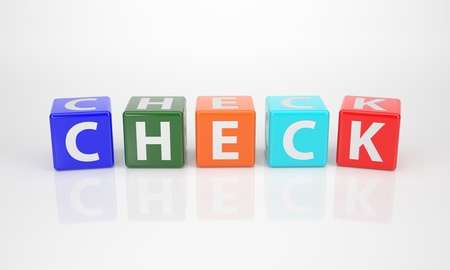 check out: The Word Check out of multicolored Letter Dices