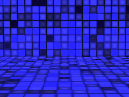 Blue colorful pattern made out of Light Cubes photo