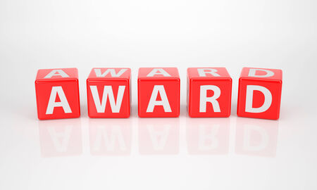 The Word Award out of red Letter Dices photo