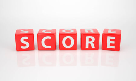 The Word Score out of red Letter Dices photo
