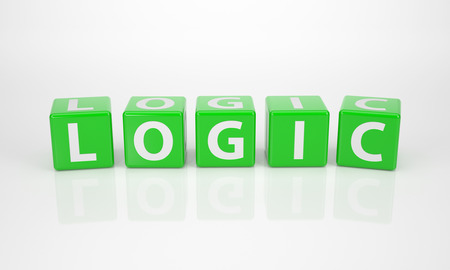 The Word Logic out of green Letter Dices photo