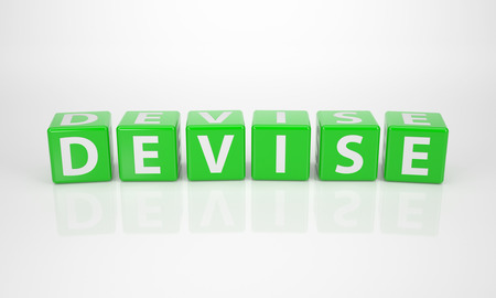 The Word Devise out of green Letter Dices photo