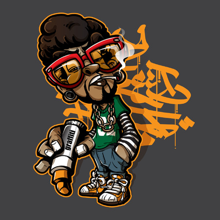 Graffiti character Ilustração
